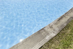 Pool with wood Stock Photos