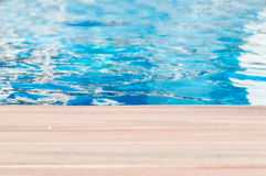 Pool and wooden Stock Photography