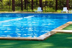 Pool in the woods Royalty Free Stock Image