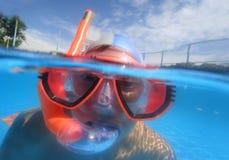 In pool1 Fotografie Stock