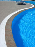 Pool2. Wavy poolside lines royalty free stock photo
