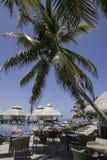 Poolarea of Maldivian Resort. The pool and bar area of Ellaidhoo Island at the Maldives Stock Photography