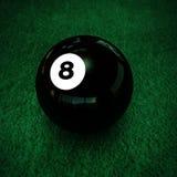 Poolbal nummer acht Stock Afbeelding