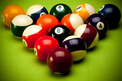 Poolballs Lizenzfreie Stockfotos