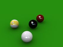 PoolBalls. Behind the 8 ball Stock Photo