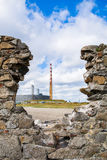 Poolbeg Chimney, Dublin Royalty Free Stock Photo