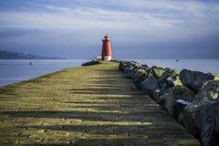 Poolbeg-Leuchtturm-Bad, Dublin Stockfotografie
