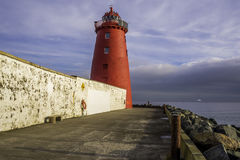Poolbeg Lighthouse Bath, Dublin Royalty Free Stock Images