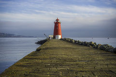 Poolbeg Lighthouse, Dublin royalty free stock images
