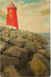 Poolbeg lighthouse. Dublin. Ireland Stock Photography