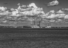 Poolbeg Towers, Ringsend, Dublin Stock Photo