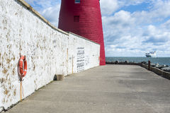 Poolberg lighthouse. Dublin, Ireland Royalty Free Stock Photos