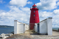 Poolberg lighthouse. In Ireland, Dublin bay Stock Images