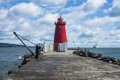 Poolberg lighthouse. In Ireland, Dublin bay Stock Photos
