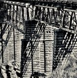 Poolburn viaduktbro, centrala Otago arkivbild