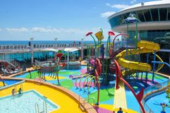 Pooldeck onboard Liberty of the Seas, Royal Caribbean. Cruises royalty free stock photography