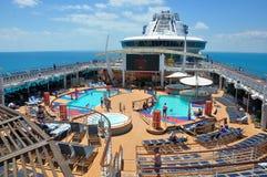 Pooldeck onboard Liberty of the Seas, Royal Caribbean. Cruises royalty free stock photos