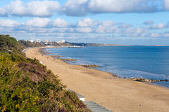 Poole beach at Branksome Dorset England UK near to Bournemouth Royalty Free Stock Photography