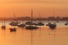 Poole Hafen am Sonnenuntergang Stockfotos