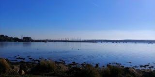 Poole hamn på en solig dag royaltyfria foton