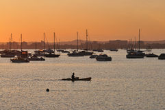 Poole harbour  sunset Stock Images