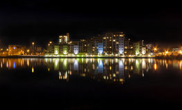 Poole-Nachtzeit-Skyline Lizenzfreie Stockfotografie