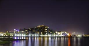 Poole på natten Royaltyfri Foto