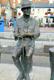 Poole Quay, Poole, Doset. A bronze statue of Lord Baden Powell founder of the scout movement on the Quay at Poole, Dorset, England, UK Stock Photography