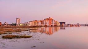 Poole skyline at sunset Royalty Free Stock Photos
