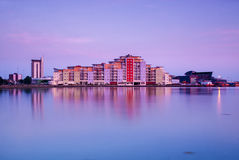 Poole skyline at sunset Royalty Free Stock Photography