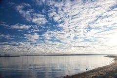 Poole strand, Dorset på den engelska sydkusten Arkivbild
