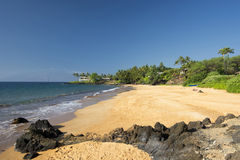 Poolenalena Beach, south shore of Maui, Hawaii Royalty Free Stock Photos