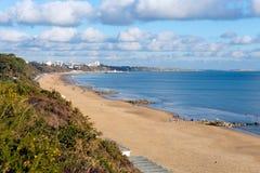 Poolestrand in Branksome Dorset Engeland het UK dichtbij aan Bournemouth Royalty-vrije Stock Fotografie