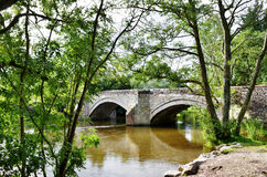 Pooley Bridge and the River Eamont Stock Photography