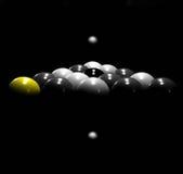 Poolkugeln auf Lichtstrahl Lizenzfreies Stockfoto