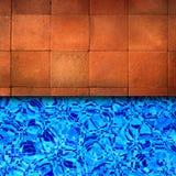 Poolrand des roten Ziegelsteines Stockfoto