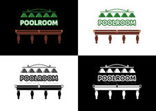 Poolroom - Billiard Club Logo Design Stock Images
