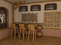 poolroom della barra Fotografie Stock