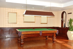Poolroom in the luxury hotel Stock Images