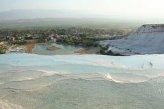 Pools. Pamukkale pools, Turkey, near Denizli stock images