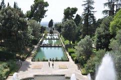 Pools bij Villa D ` Este in Tivoli, Italië Royalty-vrije Stock Fotografie