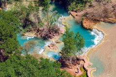 Pools at the bottom of Havasu Falls in Arizona. Pools at the bottom of the world famous Havasu Falls in Arizona Royalty Free Stock Photos
