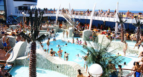 Pools in a cruise Royalty Free Stock Photo