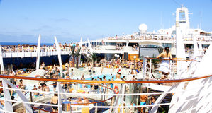 Pools on the a cruise Stock Image