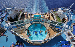 Pools on cruise ship. Pools on luxe cruise ship crown princess Stock Photography