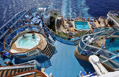 Pools on cruise ship Stock Photo