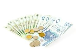 Pools geld Stock Fotografie