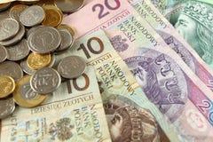Pools geld Stock Afbeelding