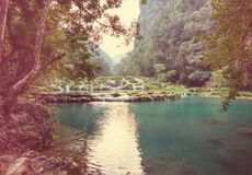 Pools in Guatemala Royalty Free Stock Photo