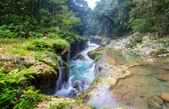 Pools in Guatemala stock photo